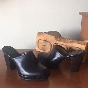 Frye Jessica' Leather Platform Clog